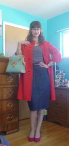 Charlotte compliments my vintage coat and lady purse!
